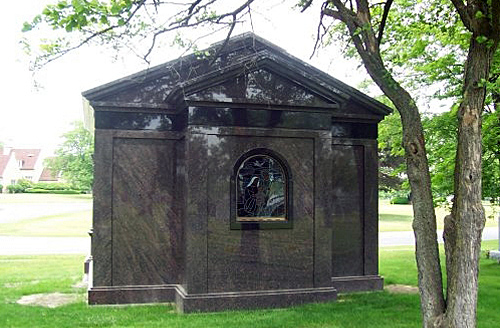 Rear view of finished mausoleum